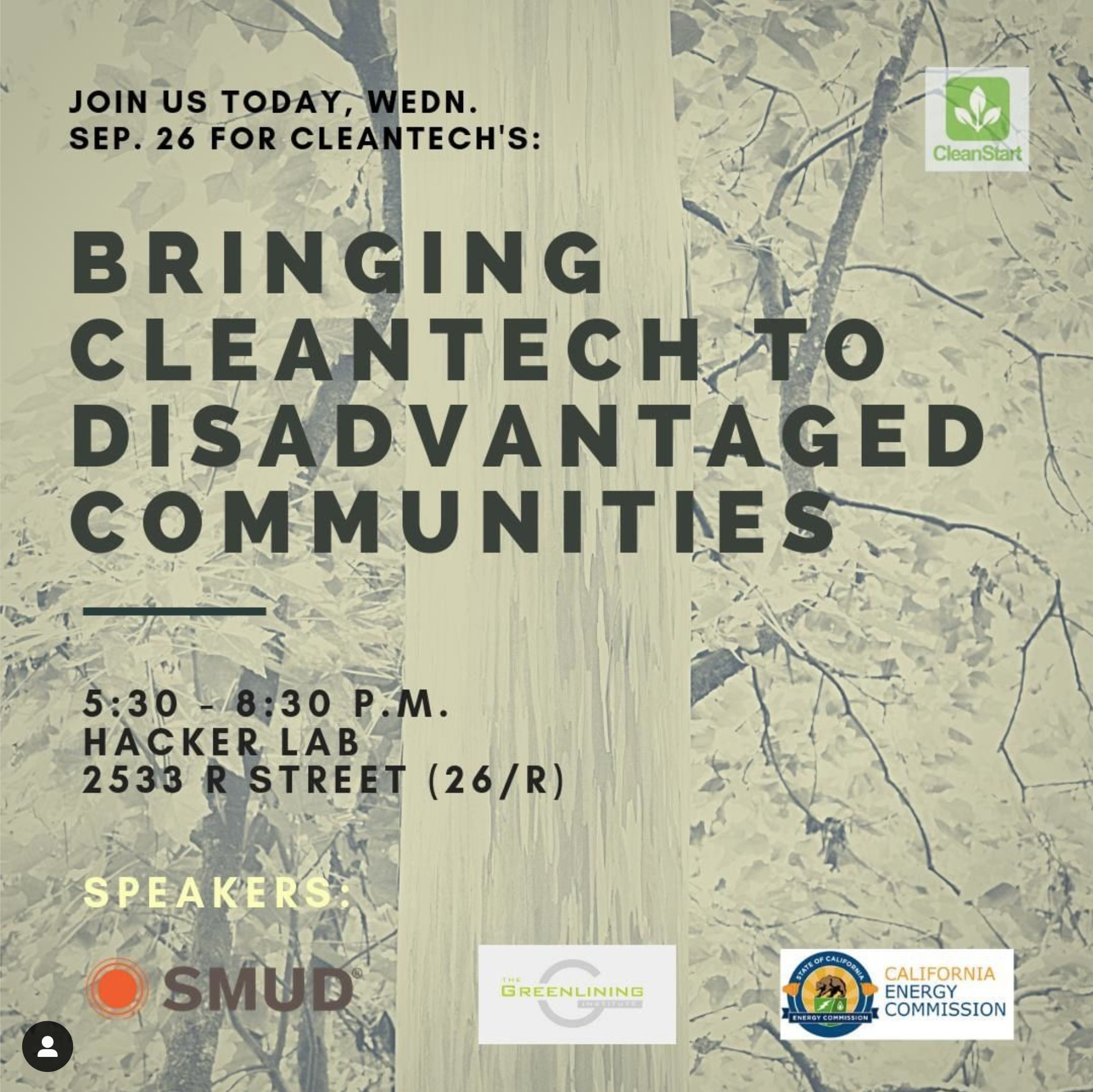 Cleanstart green energy meetup