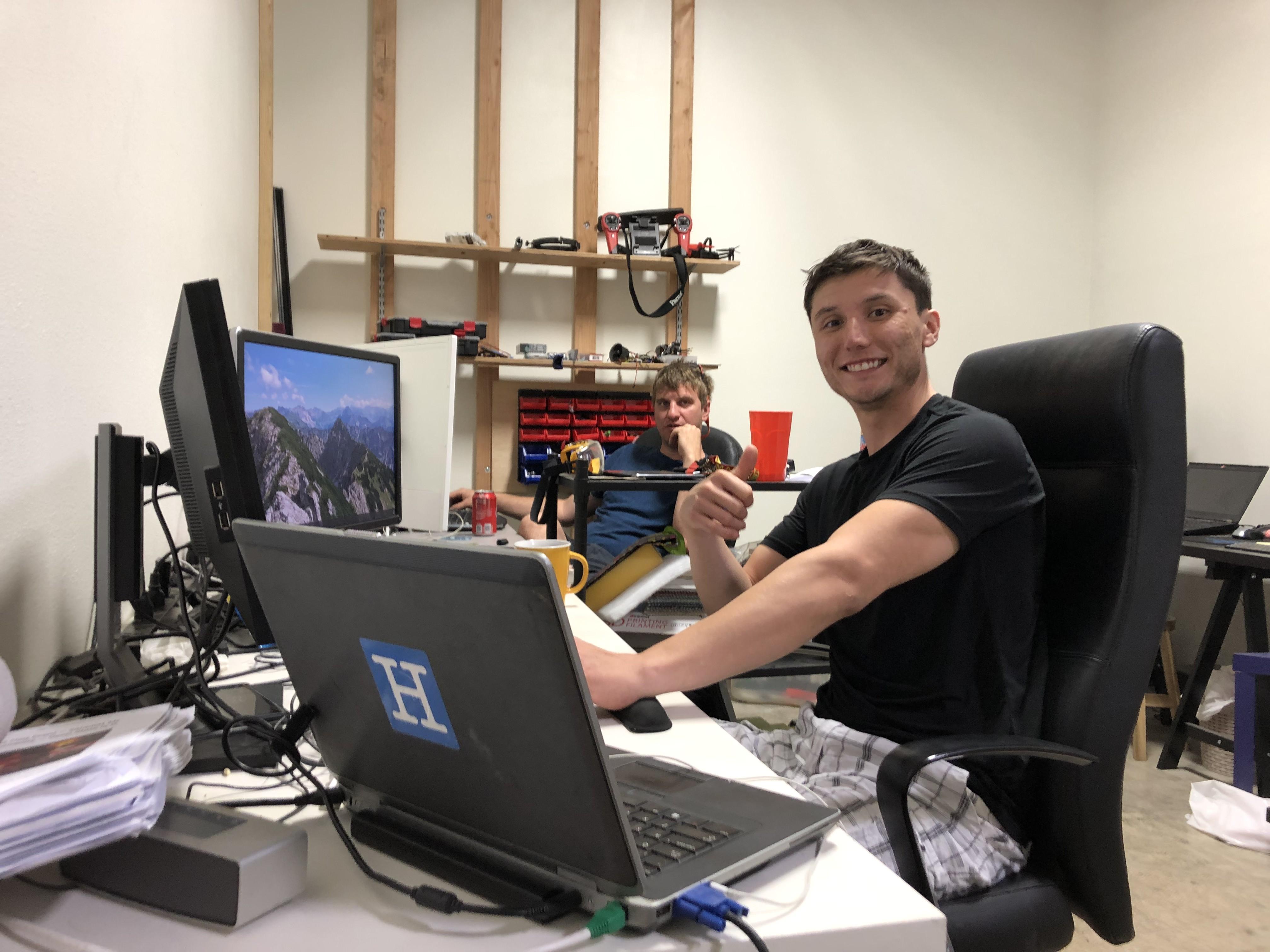 Josh at work